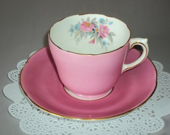 Vintage Pink Melba Tea Cup and Saucer
