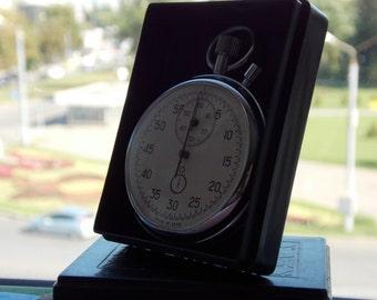 Soviet stopwatch. Vintage stopwatch USSR. Mechanical chronometer.