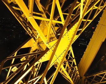 Internal Structure of the Eiffel Tower, architecture, steel, building, lights, paris,