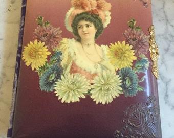 Antique Velvet Backed Photo Album
