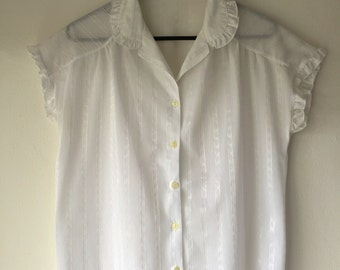 Vintage White Romantic Shirt