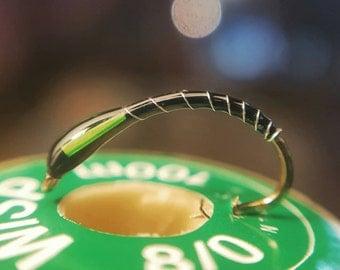 Black & Green Buzzer fly fishing flies