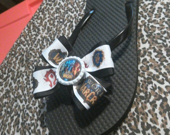 Custom Flip Flops Rockabilly, Horror,Bands,Warcraft,Gaming...Any Idea you can think of!!!