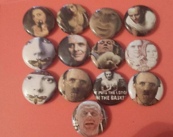 9 Button Set Silence of the Lambs