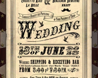 Custom Carnival Wedding Flyer Digital Download