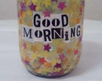 Good morning/Good night  Jar Light