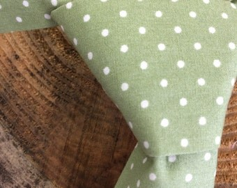 Pale green sage green toddler tie for boy with velcro fastening