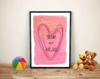 You Are Here Nursery Wall Art