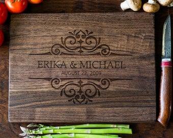 Custom Engraved Cutting Board, Personalized Cutting Board, Monogram, Wedding Gift, Anniversary, Bridal Shower Gift, Kitchen Decor #3058