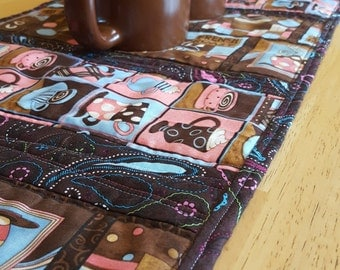 Coffee Themed Table Runner