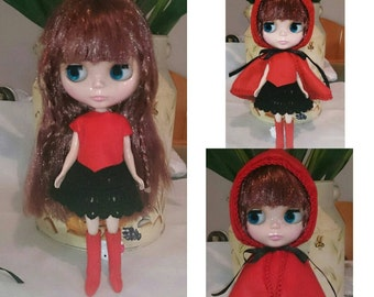Costume little Red Riding Hood Blythe
