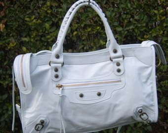 White leather bag bags made in Italy new