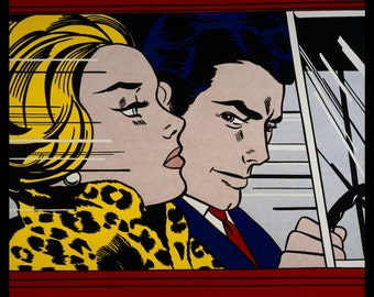 Art Print - Roy Lichtenstein, 'In the Car' (1963)