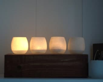 Wooden Votive Candle Holder