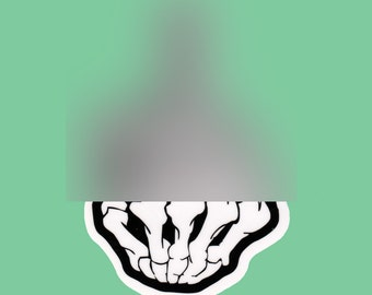 Skeleton Middle Finger F**k Off Transparent Vinyl Sticker Decal