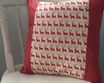 Homemade Deer Red Cushion