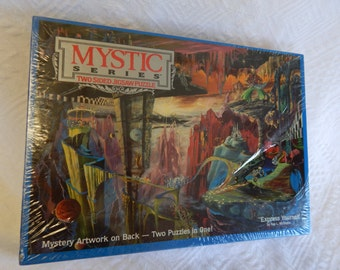 """Buffalo Games mystic Series 2 Sided Jigsaw Puzzle """"Express Yourself"""" 529 Pieces 21 1/4 x 15"""