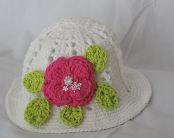 Crochet hat girl.