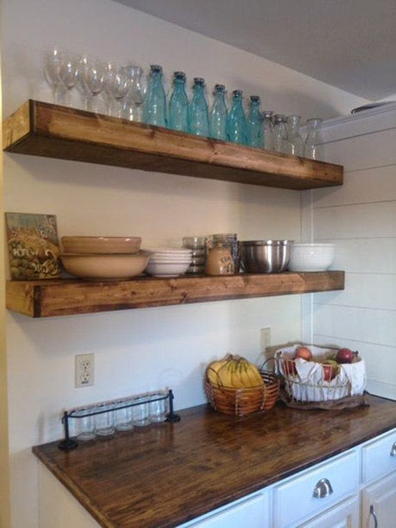 Wood Floating Shelves Rustic Shelf Farmhouse Shelf