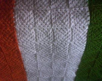 Irish flag - Crochet Blanket