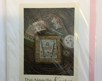 The Needle Keeper - Needlecase, Pincushion, Scissor Charm - Cinderberry Stitches