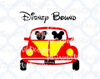 Disney Bound Car SVG,EPS,PNG,Studio