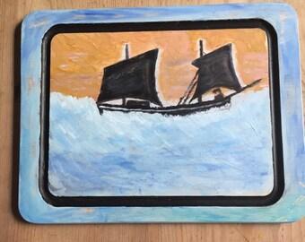 Cornish hand painted