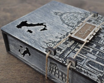 Box for gift, Gift boxes, Packing box, Personalized Box, Jewelry Box Wooden, Sunny Italy