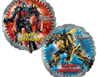 FAST SHIP TWO Transformers Birthday Balloons Party Bumble Bee Mylar Foil