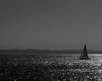 A boat off Lisbon, Lisbon, Portugal.