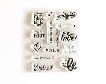Hoot Stamp Set