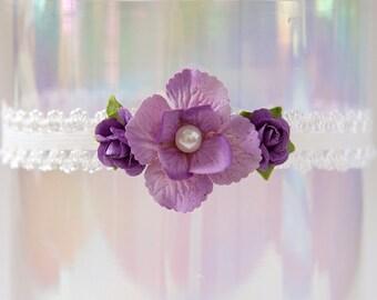 Purple Newborn Headband