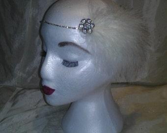 Diamond & Feather 1920s Elastic Head Band