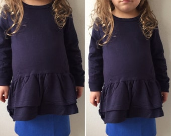 Long sleeve Navy Shirt for Girls