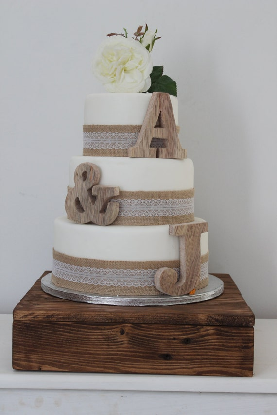 Wooden Letter Wedding Cake Toppers