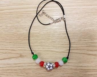 Handmade Italy  Soccer Necklace