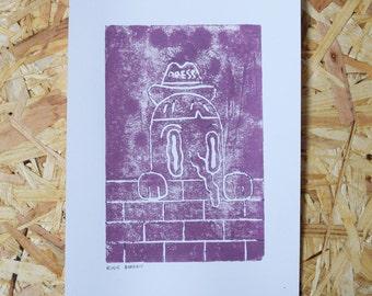 A5 Lino Print