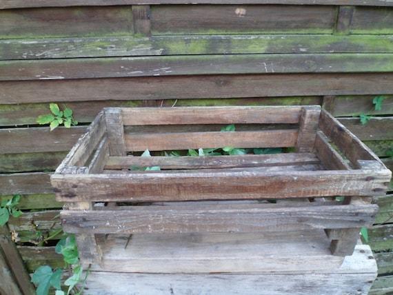 clayette caisse ancienne en bois pour fruits et l gumes ou. Black Bedroom Furniture Sets. Home Design Ideas
