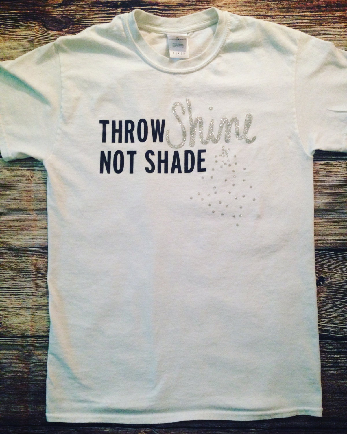 Throw Shine Not Shade Ladies T Shirt Ladies Tank Top