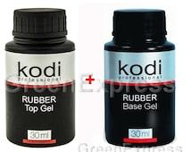 2pcs PROFESSIONAL Nail Gel Polish LED UV Rubber Base 30ml + Rubber Top 30 ml