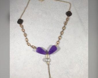 Reclaimed purple necklace