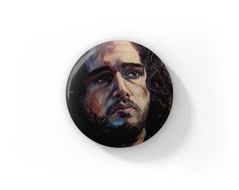 """Individual Fan Art Jon Snow Game of Thrones by Jess Kristen Button Pins or Magnets 1"""""""