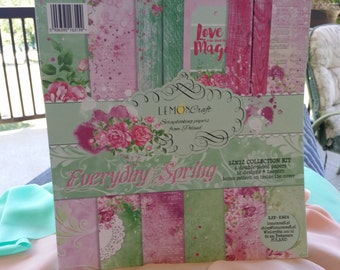 Lemon Craft paper, Everyday Spring collection