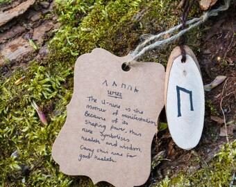 Uruz rune necklace