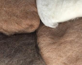 75% OFF! Wool Roving Carded Merino 4 Colors - Felting Spinning Felting Needle Felting Dry Felting Wet Felting Wool Painting 4N1