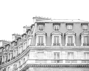 Paris rooftop art print