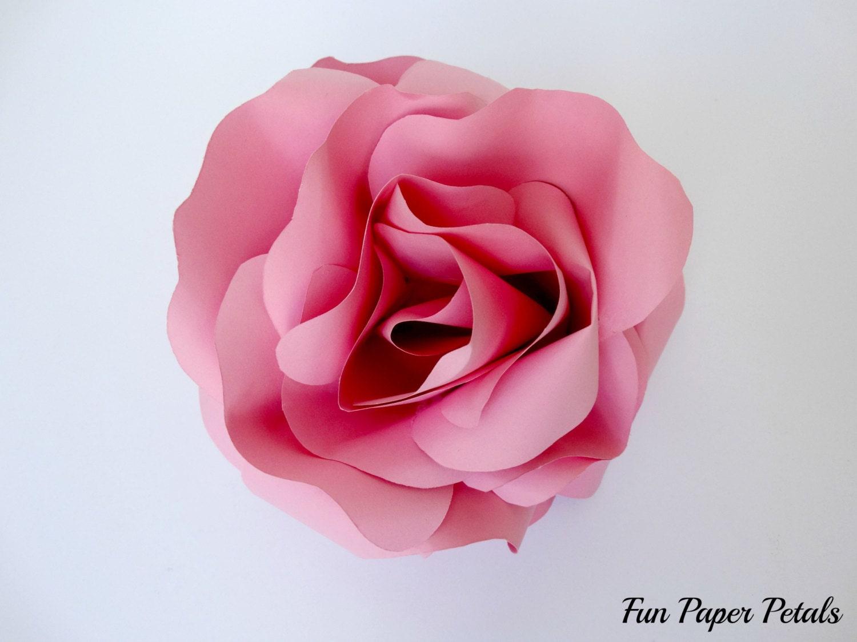 MEDIUM PAPER ROSE Flower Wall Paper Flowers Paper Flower Wall