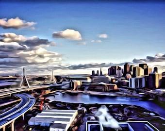 Boston Skyline - Print or Canvas