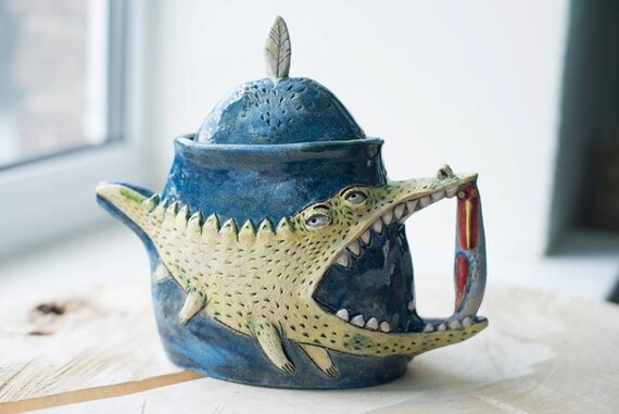Items Similar To Handmade Pottery Clay Teapot Unique