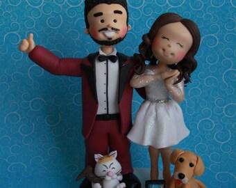 Custom wedding cake top